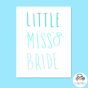 Little Miss Bride Card