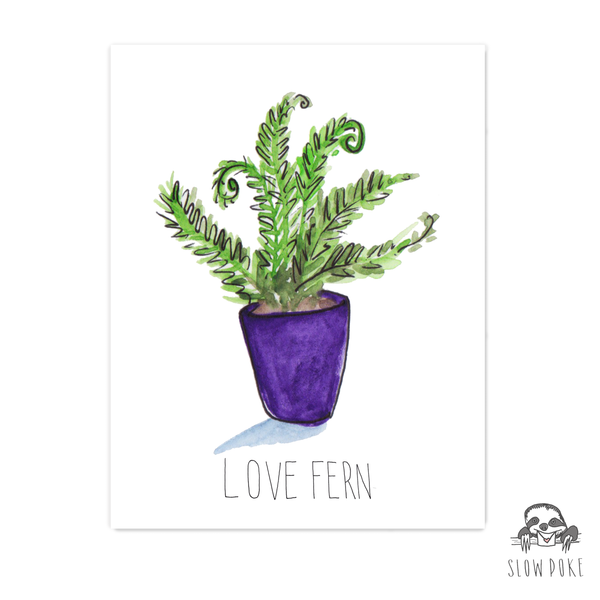 Love Fern Card