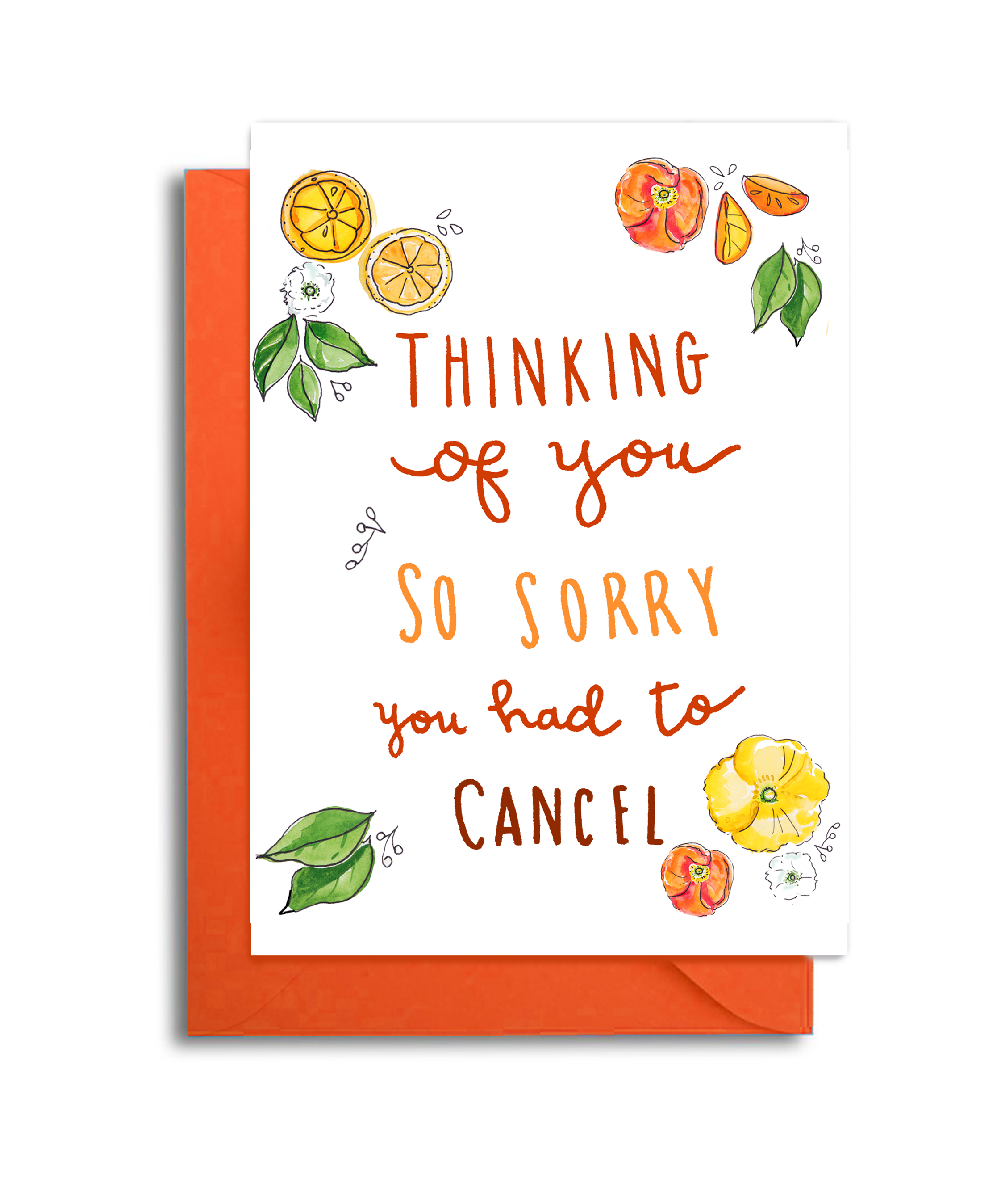 Sorry You had to Cancel Your Event Card - Thinking of You Cancelation Card - Sorry you had to Postpone your Wedding - Graduation Postponed Card