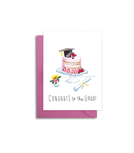 Graduation Card - 2020 Grad Card - Graduation Cake Themed Card