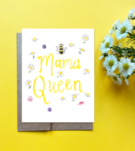 Mama Queen Mother's Day Card - Mama Queen Bee Card