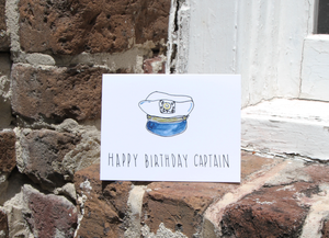Happy Birthday Captain Card