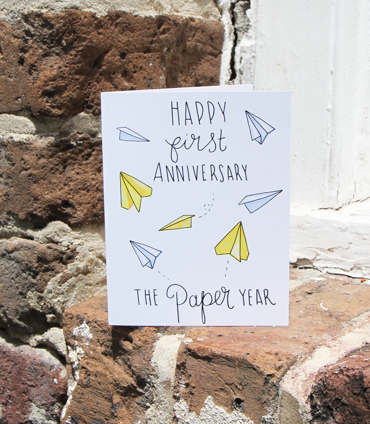 First Married Anniversary Paper Airplanes Card