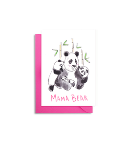 Panda Bear Mother's Day Card - Mama Bear Panda Card