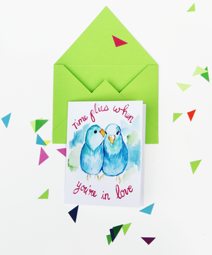 Time Flies When You're in Love Anniversary Card