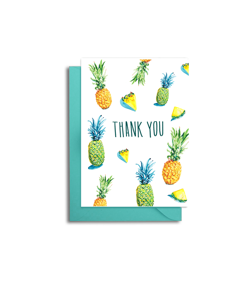 Pineapple Thank You Note Card Set