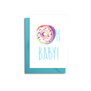 Oh Baby Donut Card