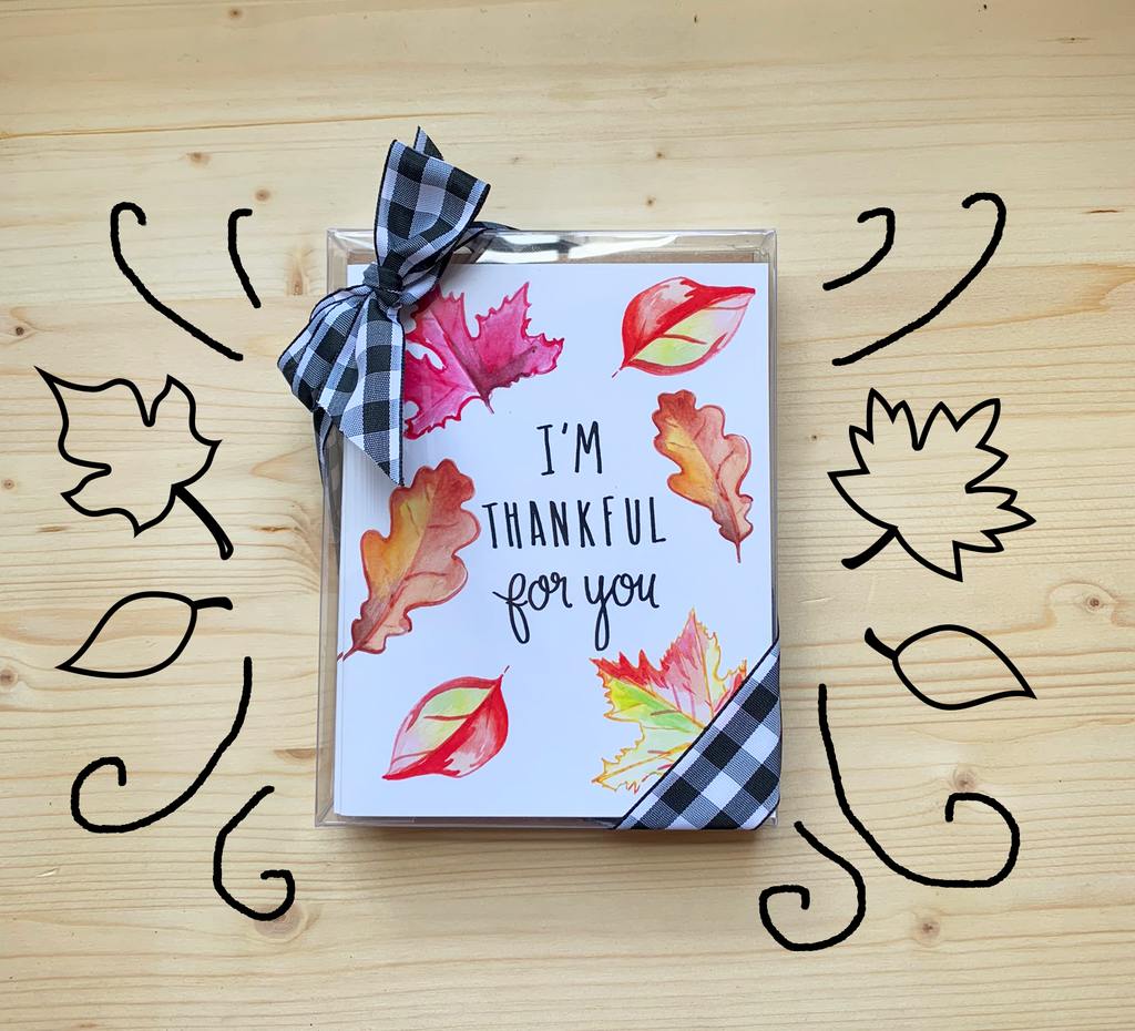 Set of 6 Thanksgiving Note Cards
