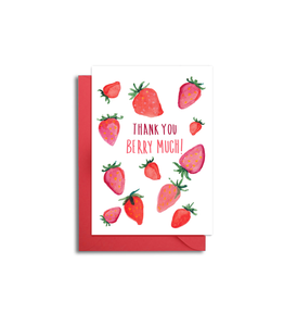 Strawberry Thank You Note Card Set