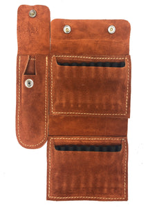 Suede Quik Ammo Pouch with Knife Sheath