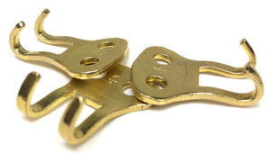 Solid Brass Military Style Claws - 2 Prong