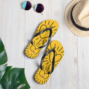SUNSHINE HEART FLIP FLOPS
