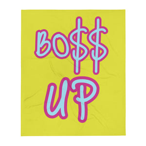 BOSS UP Throw Blanket