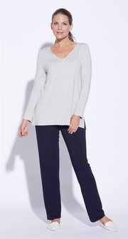 7845 - V Neck Long Sleeve Top