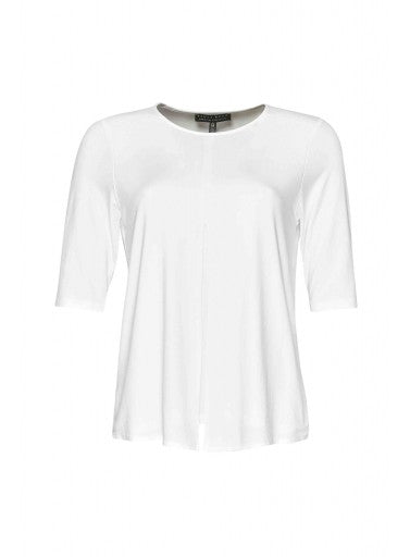 7753 - Easy Fit Box Pleat Half Sleeve Top