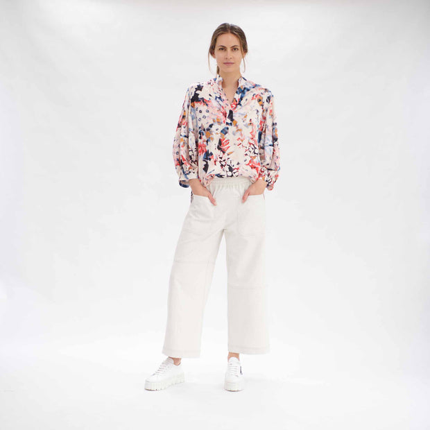 Mela Purdie - Soft Shirt - Moon Flower