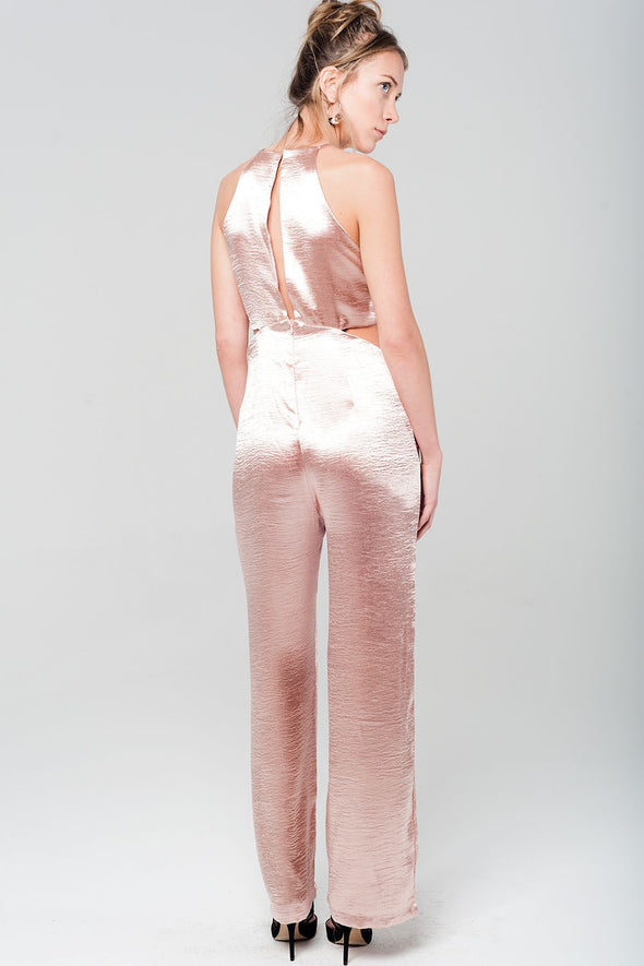 Metallic pink jumpsuit -  THE EASY LOVE SHOPPE