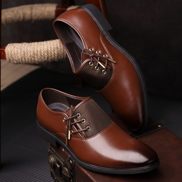 Modern Classic Lace Up Leather Lined Perforated Dress Oxfords Shoes