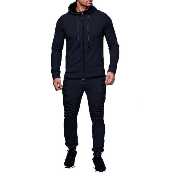 2018 Men's Outdoor Sportswear Suit, Pure Cardigan, Hooded Sweater, Casual Sports Pants -  THE EASY LOVE SHOPPE