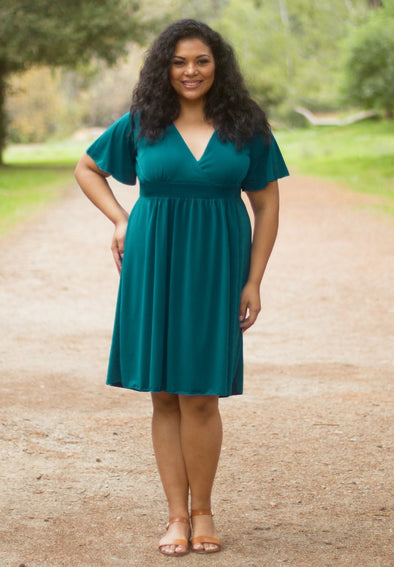 Classic V-Neck Dress -  THE EASY LOVE SHOPPE