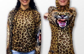 LEOPARD Hoodie Chomp Shirt by MOUTHMAN® -  THE EASY LOVE SHOPPE