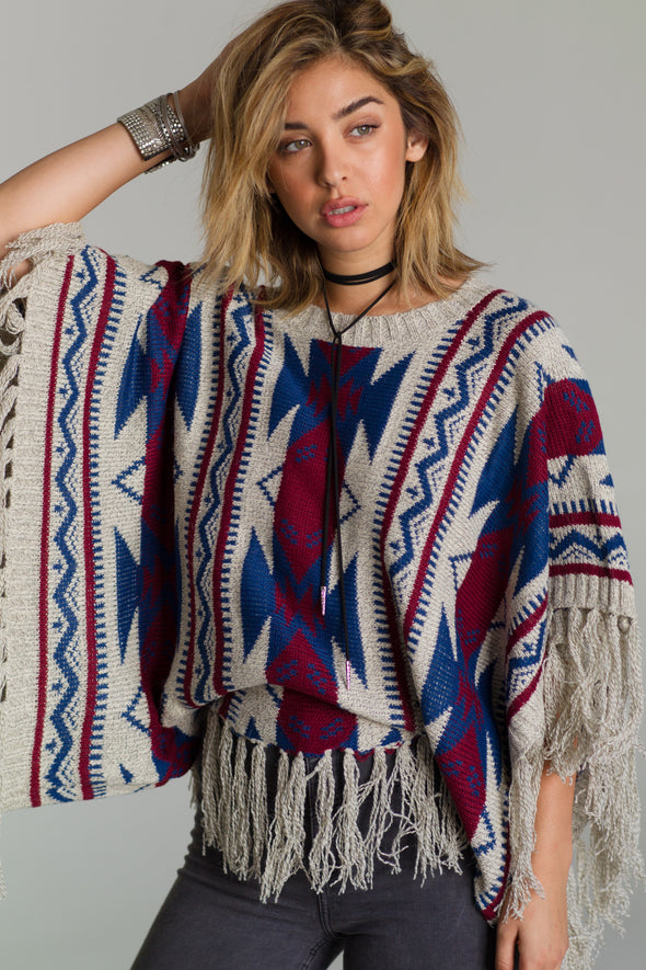 AZTEC DREAMS PONCHO -  THE EASY LOVE SHOPPE