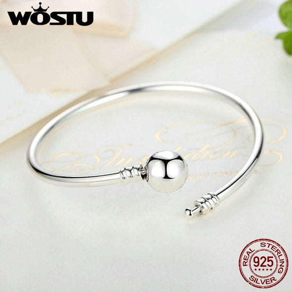 WOSTU Authentic 925 Sterling Silver Snowflake Clasp Unique