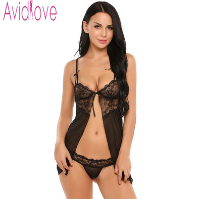 Avidlove Sexy Women Lingerie Fancy Underwear With G-string Fitness Babydoll Nightwear Sexy Lingerie Hot Underwear Lace Sleepwear -  THE EASY LOVE SHOPPE