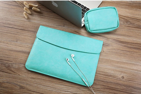 Ultra Thin Waterproof PU Leather Laptop Sleeve Cover Case For Apple Macbook Air11 Retina 12 13 15 Liner Sleeve