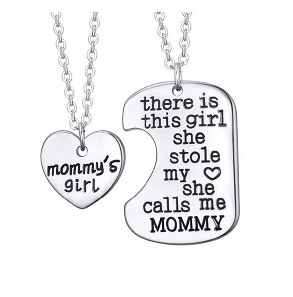 "2 Pc  ""To The Girl Who Stole My Heart"" Pendant Various -  THE EASY LOVE SHOPPE"