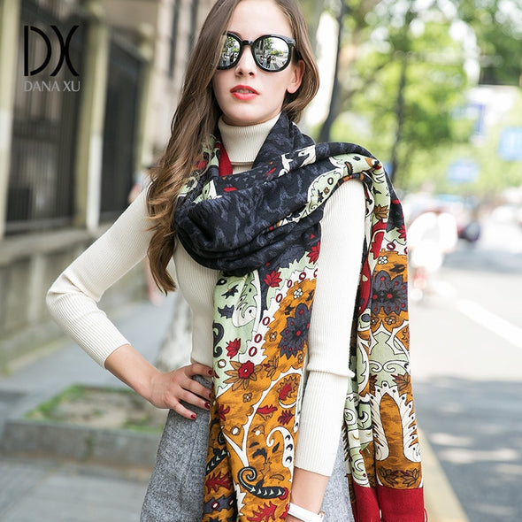 2019 New Winter Women Scarf Luxury Brand 100% Pure Wool Large Size -  THE EASY LOVE SHOPPE