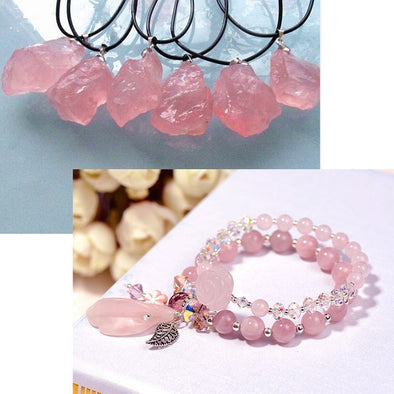 100g 2-4cm Natural Pink Quartz Crystal Ornaments -  THE EASY LOVE SHOPPE