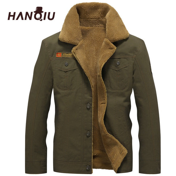2018 Winter Bomber Jacket Men Air Force Pilot MA1 Jacket Warm Male fur collar Mens Army Tactical Fleece Jackets Drop Shipping -  THE EASY LOVE SHOPPE