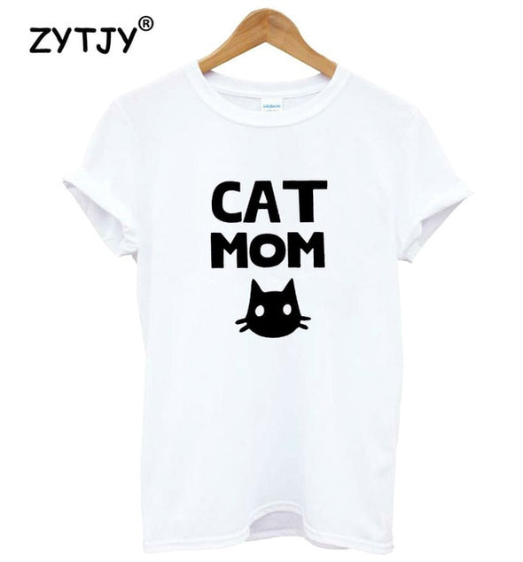 Cat mom Print Women tshirt Cotton Casual Funny t shirt For Lady Top Tee Hipster Tumblr Drop Ship Z-811 -  THE EASY LOVE SHOPPE
