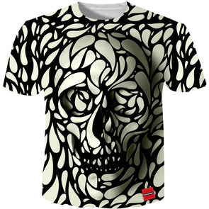 Cloudstyle 3D Tshirt Men 2018 3D Skull Print Fashion Brand Hipster Harajuku Tees Shirt Top Summer Cool Streetwear Plus Size 5XL -  THE EASY LOVE SHOPPE