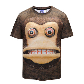 Cool T-shirt 3D T-shirt Print Monkey Short Sleeve Summer Tops Tees Tshirt Fashion Animal Print Shirt -  THE EASY LOVE SHOPPE