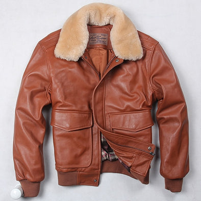 Avirex Fly Air Force Flight Jacket Fur Collar Genuine Leather/Sheepskin Jacket -  THE EASY LOVE SHOPPE