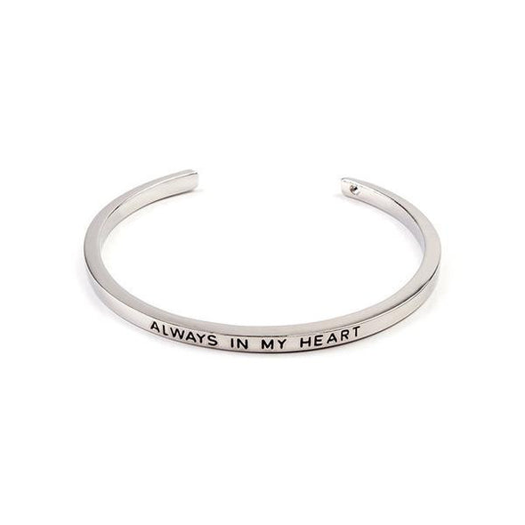 Always In My Heart Cuff Bangle -  THE EASY LOVE SHOPPE