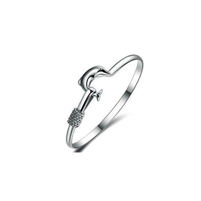 Dolphin Simple Love Bangle -  THE EASY LOVE SHOPPE
