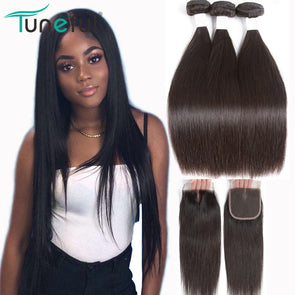 Straight Hair Bundle With Closure