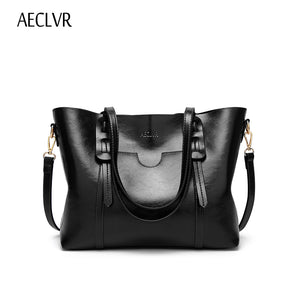 AECLVR Fashion Vintage Women Handbag PU Leather Zipper Shoulder Bag Large Capacity Tote Crossbody Bag For Ladies Bolsas Feminina -  THE EASY LOVE SHOPPE