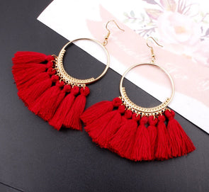 Bohemian Long Tassel Earrings For Ladies Various Colors!! -  THE EASY LOVE SHOPPE