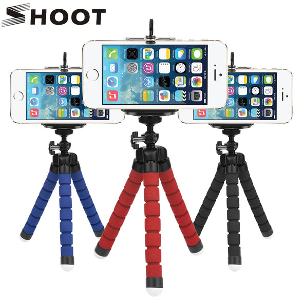 Mini Flexible Sponge Octopus Tripod for iPhone Samsung Xiaomi Huawei Mobile Phone Smartphone Tripod for Gopro Camera Accessory -  THE EASY LOVE SHOPPE