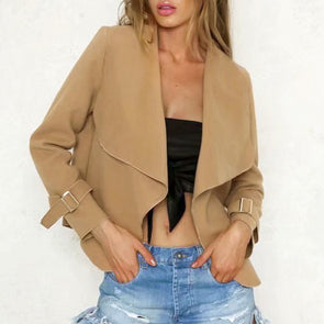 Conmoto Short Wool Blend Woman Coats 2018 Camel Ladies Winter Jacket Coats Open Stitch Wool Coats Casaco Feminino -  THE EASY LOVE SHOPPE