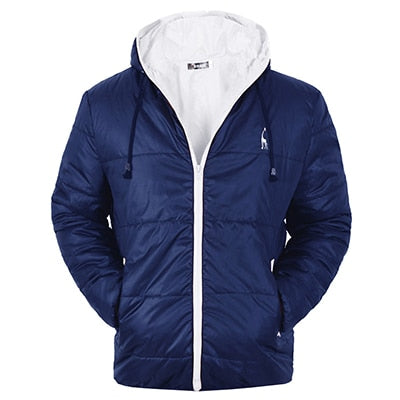 GustOmerD Brand Waterproof Winter Coat Men Casual Hoodied Cotton Padding Parka Men Clothing Deer Embroidery Winter Jacket Men -  THE EASY LOVE SHOPPE