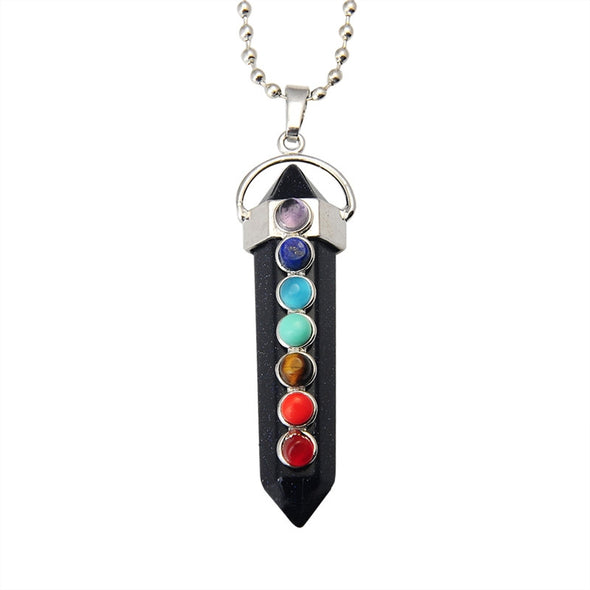 Unique Crystal Reiki Pendant  (Black Agate Pendant)