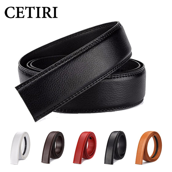 6 Color No Buckle Designer Mens Belts Body 3.5cm Wide Cowskin Genuine Leather High Quality Men Automatic Belt Body Kemer White -  THE EASY LOVE SHOPPE