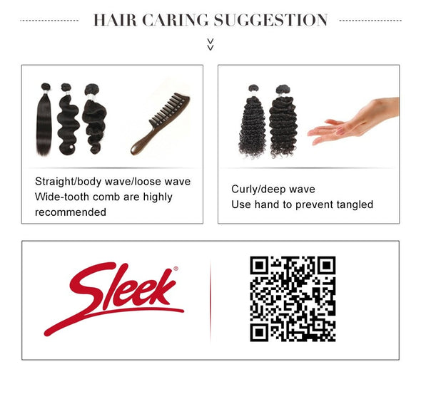 Sleek Straight Brazilian Hair Weave Bundle -  THE EASY LOVE SHOPPE