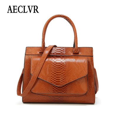 AECLVR Solid Color Serpentine Shoulder Bag For Women Simple Style Elegant Ladies Fashion Satchels Fashion All-Match Handbags -  THE EASY LOVE SHOPPE