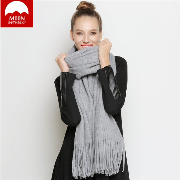 MOON In The Sky -Wool Blanket Scarves/ Wraps High Quality -  THE EASY LOVE SHOPPE